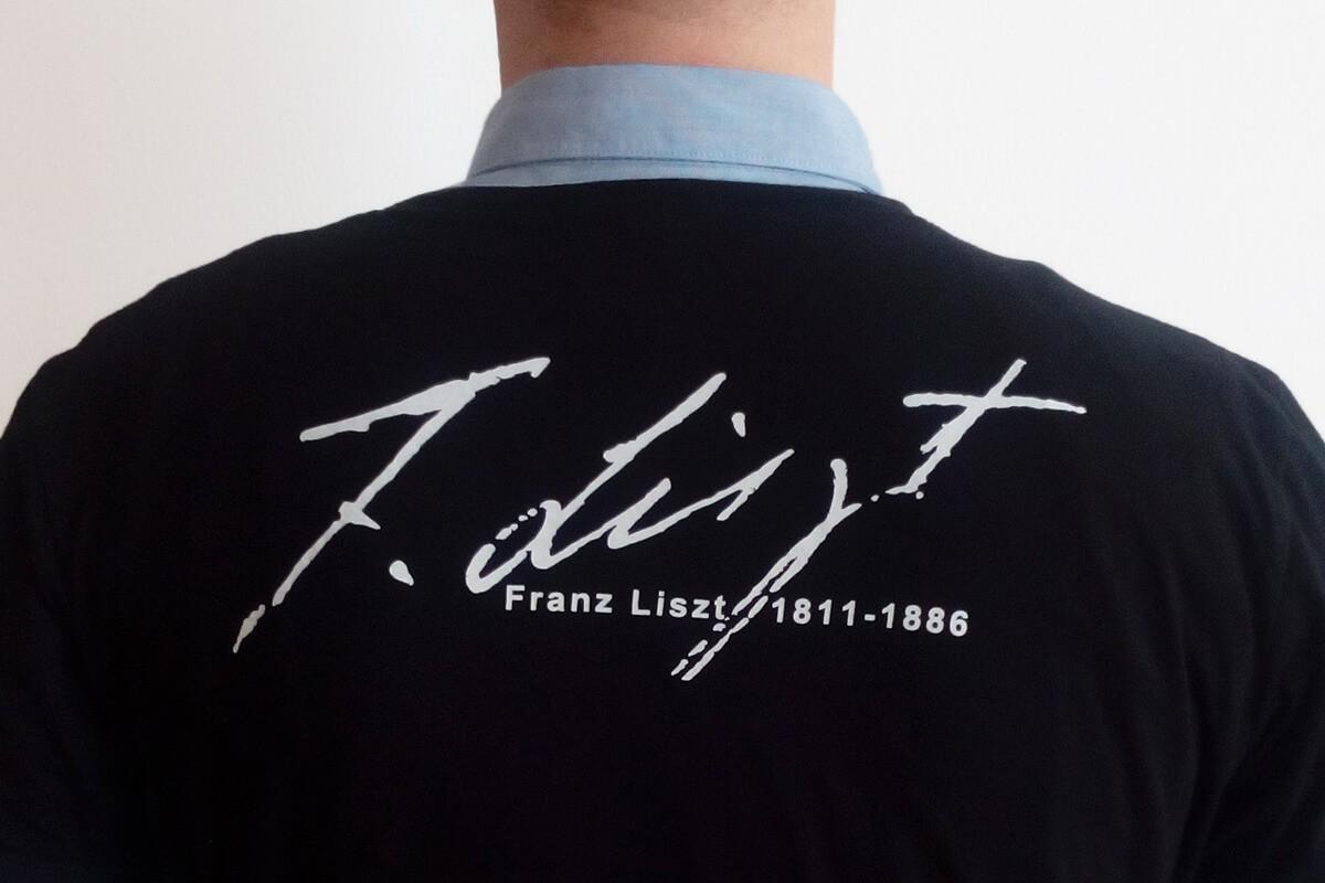 """T-Shirt """"Franz Liszt Unterschrift"""""""